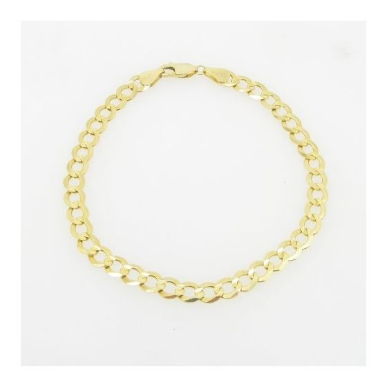 Mens 10k Yellow Gold figaro cuban mariner link bracelet AGMBRP27 8 inches long and 6mm wide 3