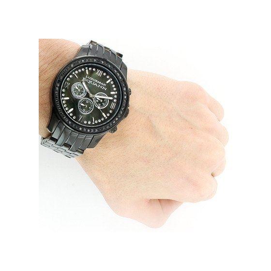 Mens Diamond Watch 2.25Ctw Of Diamonds By Black-3