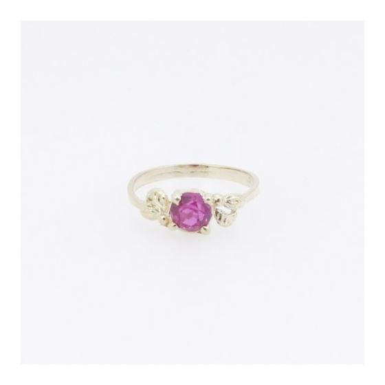 10k Yellow Gold Syntetic red gemstone ring ajr5 Size: 3.5 3