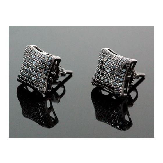 Sterling Silver Unisex Fashion Hand Set Stud Earrings ME0216 1