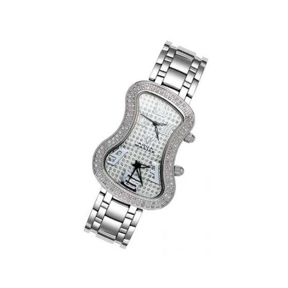 Aqua Master Diamond Watch The AquaMaster Two-Time Zone Ladies Watches 42-3W