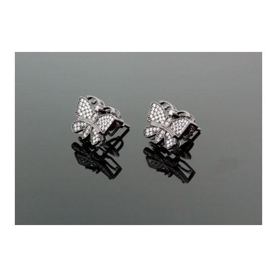 Sterling Silver Butterfly Fashion Hand Set Stud Earrings ME0209 1