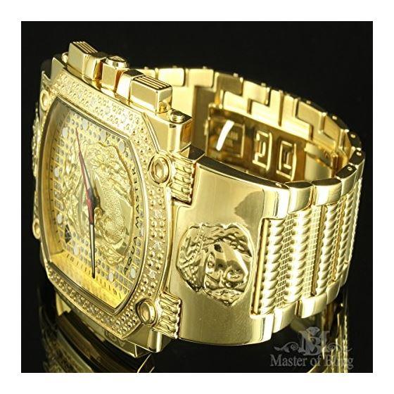 14K Yellow Gold Finish Metallic Mens Jesus Chris-3