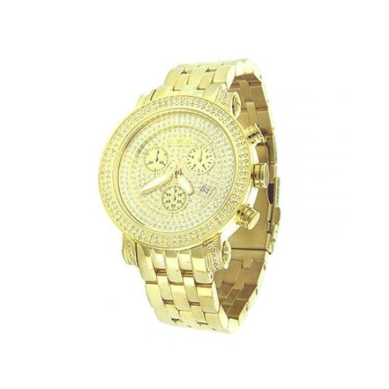 Joe Rodeo Mens Diamond Watch 1.75 ctw. Classic Yellow Gold 1