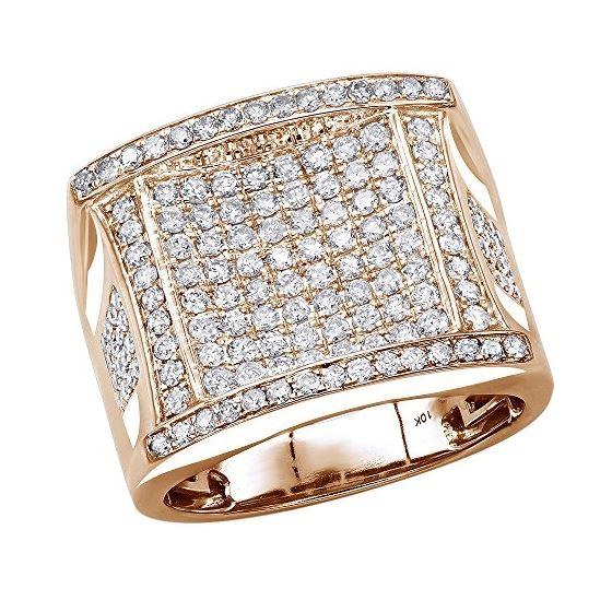 10K Gold Affordable Statement Mens Diamond Band Pi