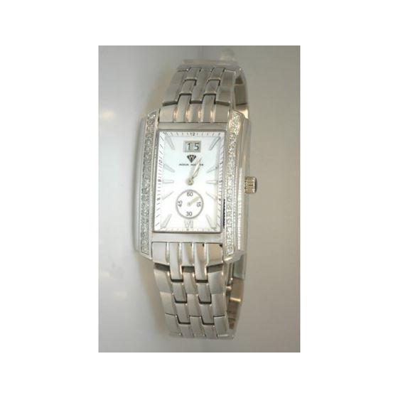 Aqua Master Swiss Classica Square 1.50 ct Diamond Mens Watch W308-WW