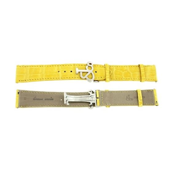 Jacob Co. Genuine Real Alligator Yellow Band Strap