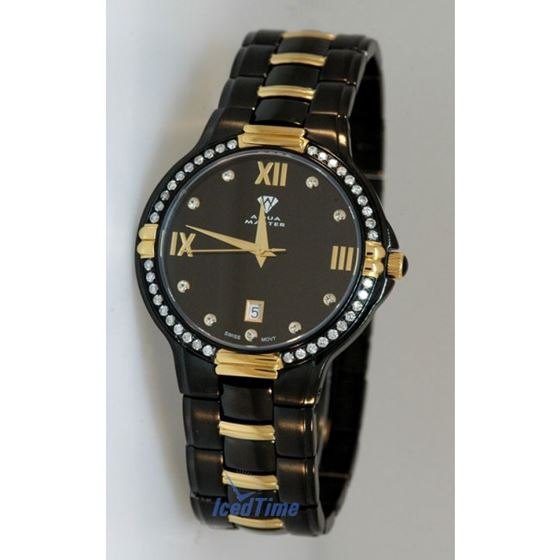 Aqua Master Swiss Classica Round 1.00 ct Diamond Mens Watch W306 B 1