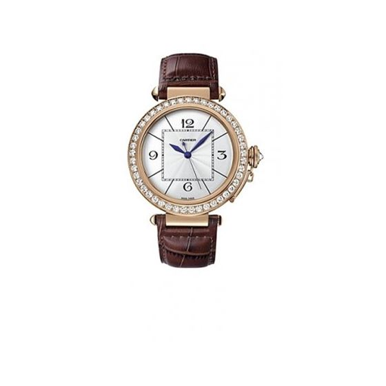 Cartier Pasha Rose Gold Diamond Mens Wat 55272 1