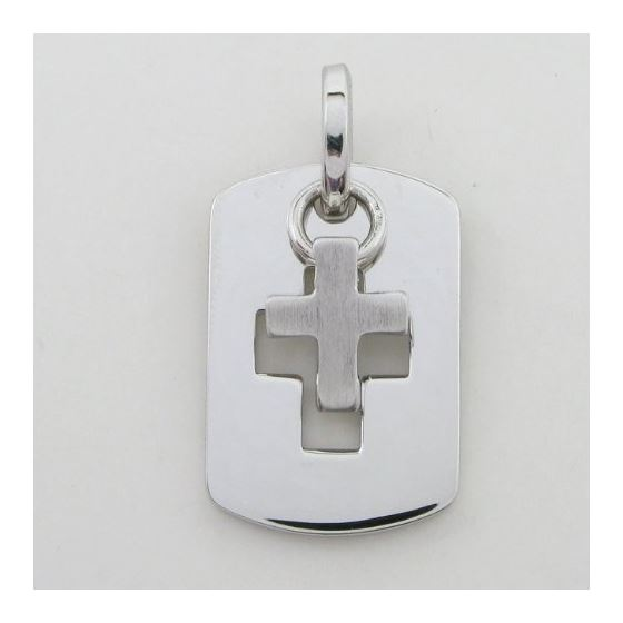 Dog tag and cross pendant SB15 28mm tall and 17mm wide 3