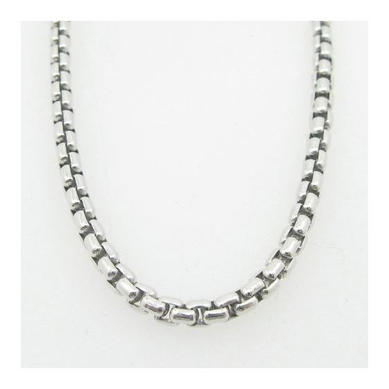 Mens .925 Italian Sterling Silver Box Link Chain Length - 36 inches Width - 3mm 3