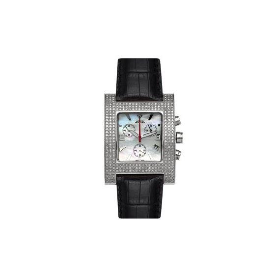 Unisex Square Diamond Watch, 2.75 Ctw