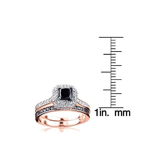 10K White Black 1.2 Ctw Diamonds Unique Bridal E-3