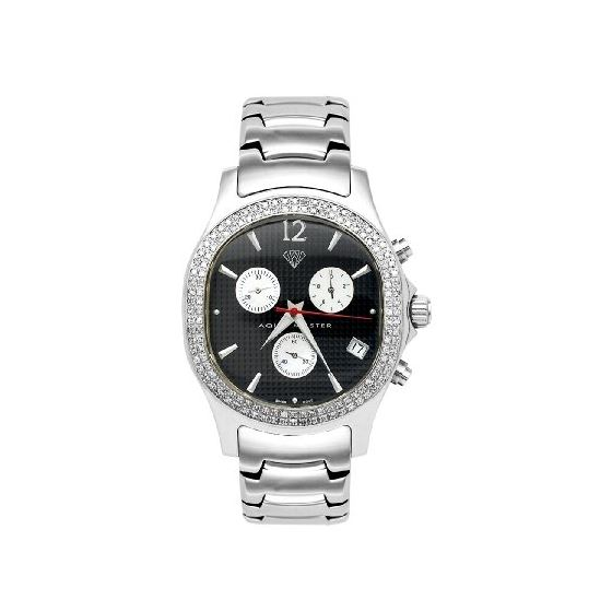 NEW! Men's Oval Diamond Watch, 1.50 Ctw
