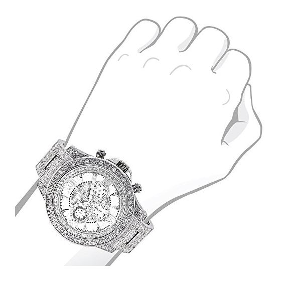 Iced Out Mens Diamond Watch 1.25Ctw Of Diamonds-3