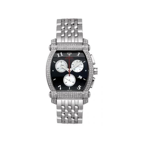 Aqua Master Diamond Watch Unisex Stainless Steel Watches With Half Full Diamonds 15-6W
