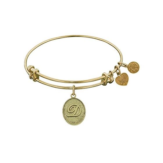 Angelica Ladies Initials Collection Bangle Charm 7.25 Inches (Adjustable) GEL1158