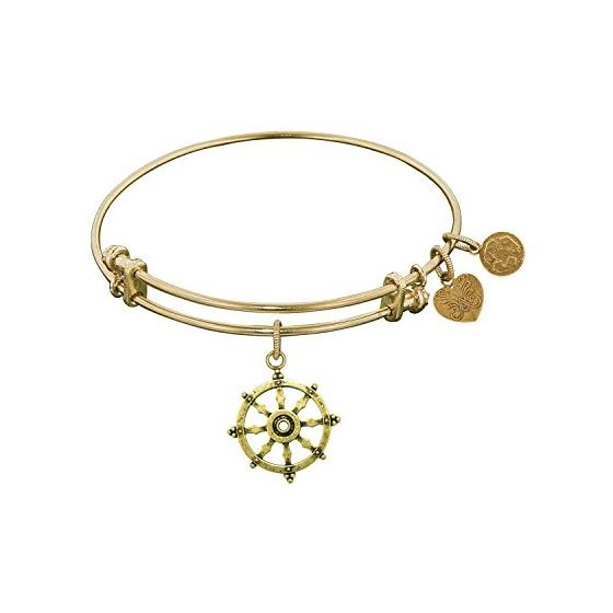 Angelica Ladies Inspirational Collection Bangle Charm 7.25 Inches (Adjustable) GEL1211