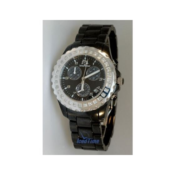 Techno Master Ladies Black Ceramic Diamo 28124 1