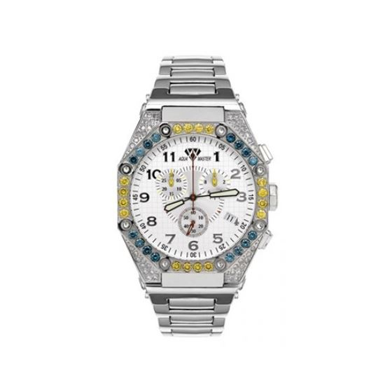 Aqua Master Diamond Watch The AquaMaster Octagon Watches Stainless Steel with Diamonds 2-6W
