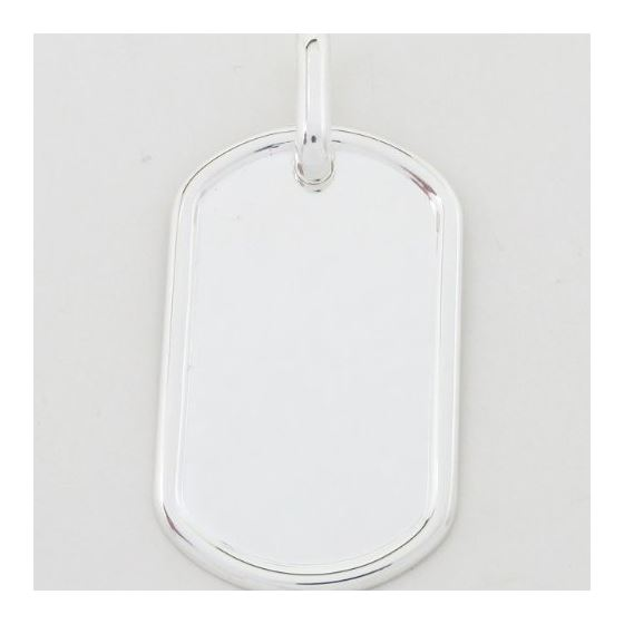 Plain dog tag pendant SB20 38mm tall and 20mm wide 3
