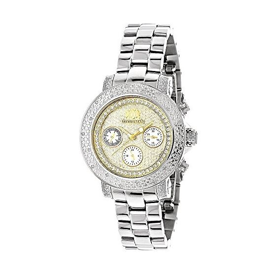 Luxurman Womens Diamond Watch 0.3ct Two  90700 1