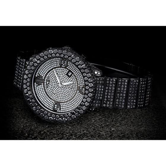 Arctica Watches Arctica 47mm Black Diamond Case 39.55ct