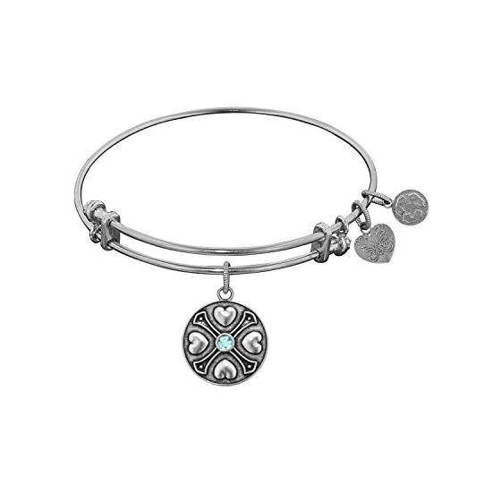 Angelica Ladies Birthstones Collection Bangle Charm 7.25 Inches (Adjustable) WGEL1184