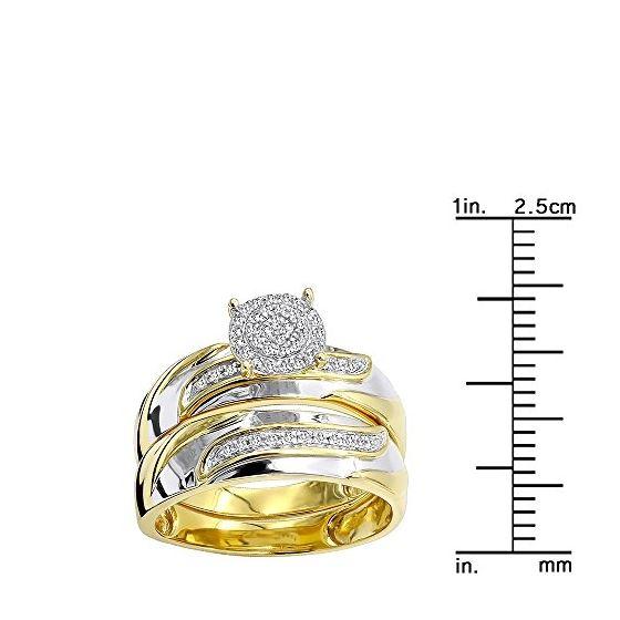 10K Gold Affordable Diamond Engagement Ring Wedd-3