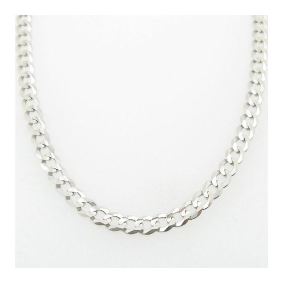 Mens White-Gold Cuban Link Chain Length - 22 inches Width - 3mm 3