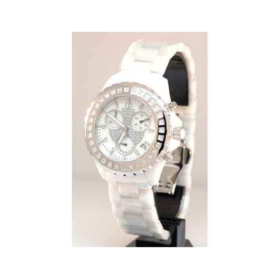 Ceramic Watches Techno Master Unisex Diamond Watch 868C