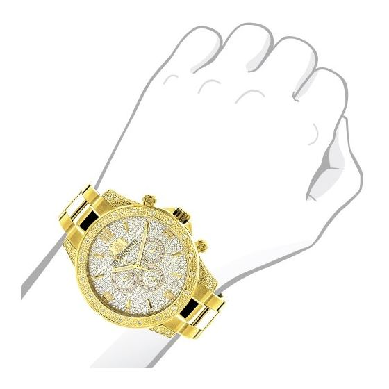 Luxurman Liberty Mens Real Diamond Watch 90243 3