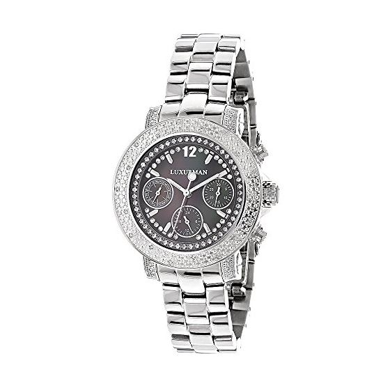 Ladies Genuine Diamond Watch by LUXURMAN 89998 1