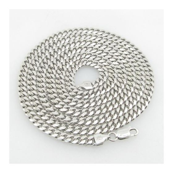 Mens .925 Italian Sterling Silver Cuban Link Chain Length - 34 inches Width - 5mm 1