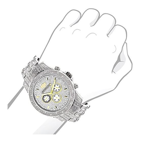 Luxurman Mens Three Chronograph Watches  90447 3