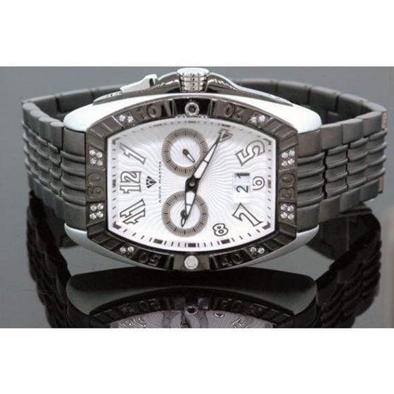 Aqua Master Tonneau 0.50ctw Mens Diamond Watch W315-8