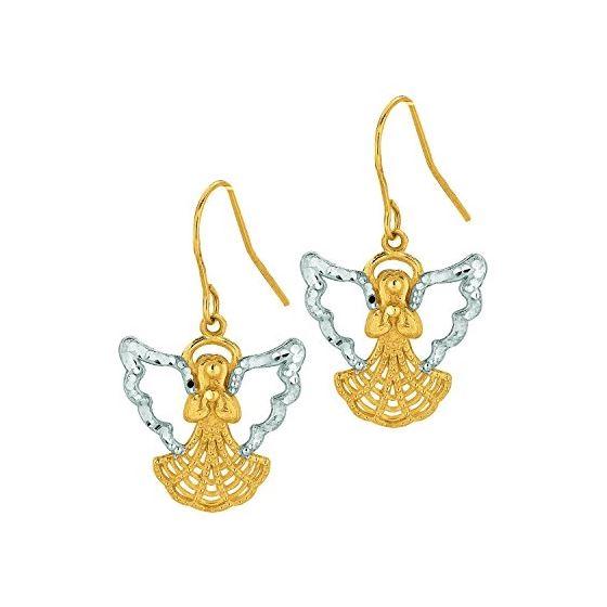 10K Yellow Gold Ladies Drop Earrings 502ER
