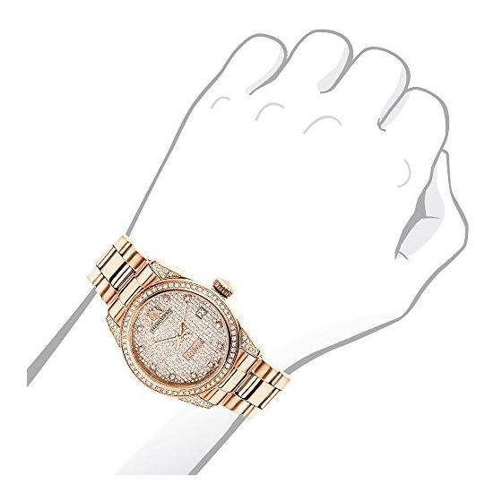 Rose Gold Plated Real Diamond Watch For Women 1.-3