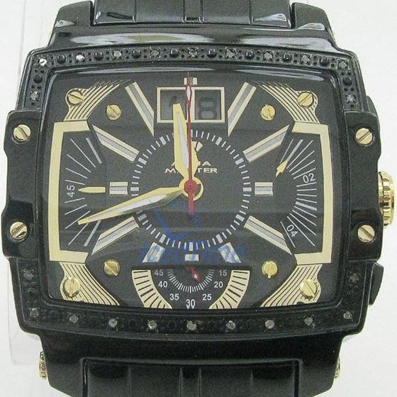 Mens Aqua Master Iced Out Diamond Watch W329AQ4 1