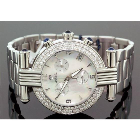 Unisex Aqua Master Diamond Watch 3.25 ct w-93b 1