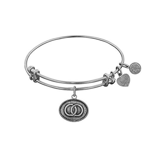 Angelica Ladies Inspirational Collection Bangle Charm 7.25 Inches (Adjustable) WGEL1083