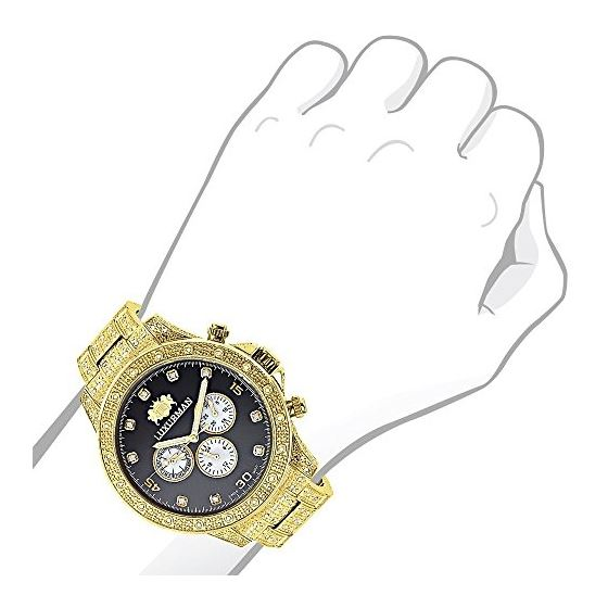 Swiss Movement Iced Out Mens Diamond Watch 1.25C-3