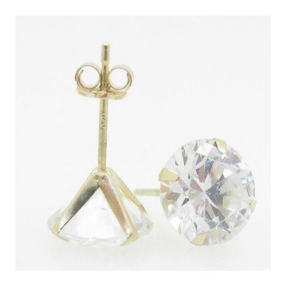 Unisex 14K solid gold earrings fancy stud hoop huggie ball fashion dangle swag 3
