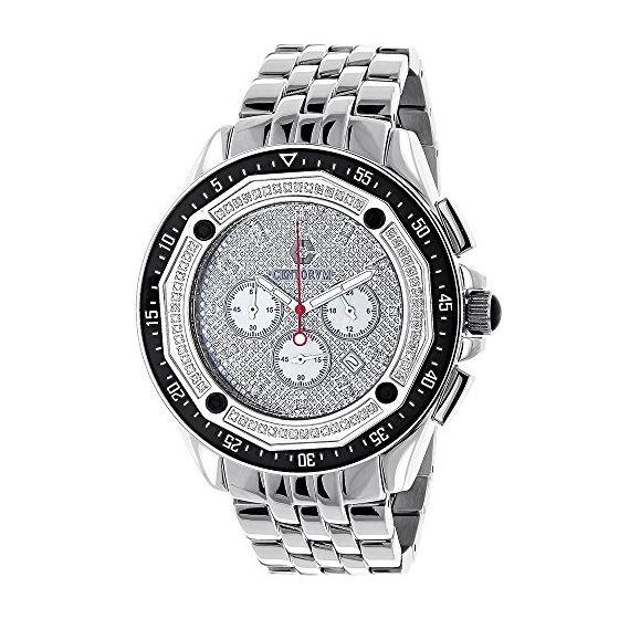 Centorum Large Mens Real Diamond Watch 0 89687 1