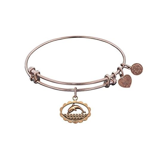 Angelica Ladies Animals Collection Bangle Charm 7.25 Inches (Adjustable) PGEL1021