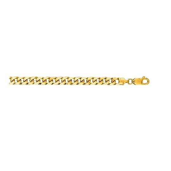 14K Yellow Gold 5.8mm wide Diamond Cut Miami Cuban Link Chain with Lobster Clasp 1