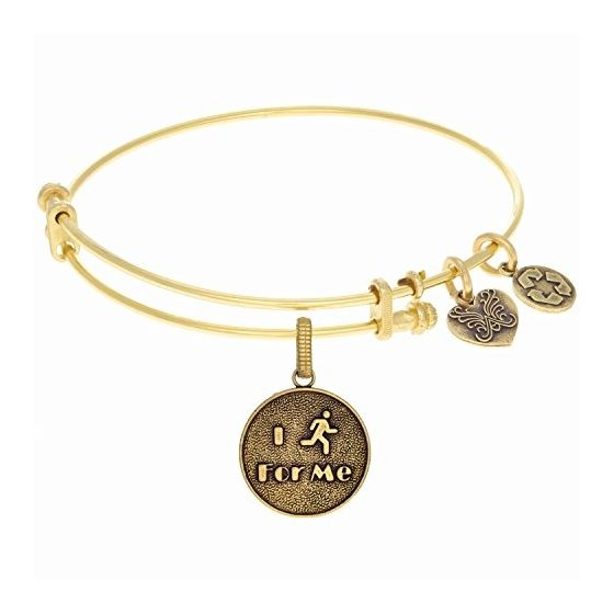Angelica Ladies Sports and Hobbies Collection Bangle Charm 7.25 Inches (Adjustable) GEL1265