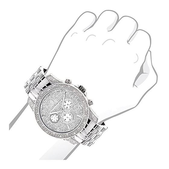 Luxurman Mens Watches Designer Diamond W 90442 3