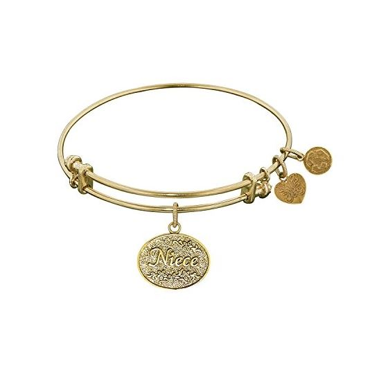 Angelica Ladies Mom and Family Collection Bangle Charm 7.25 Inches (Adjustable) GEL1050
