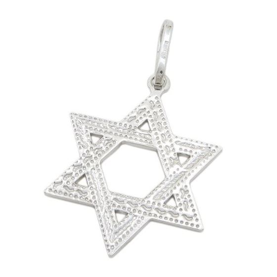 Star of david silver pendant SB57 44mm tall and 26mm wide 1
